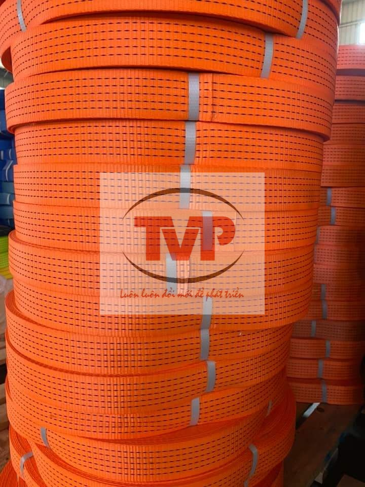 Dây Đai Dệt Polyster 50mm - Cam - TVP